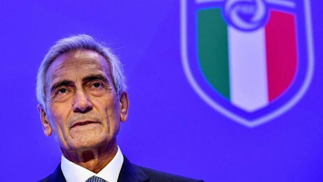 Gabriele Gravina, presidente Figc. Afp